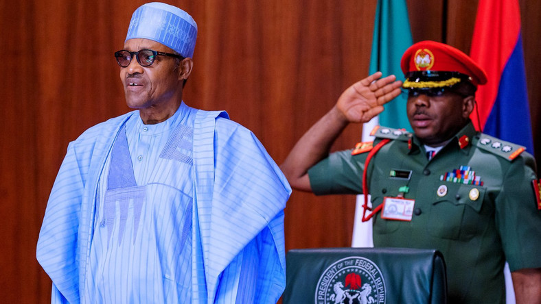 President Muhammadu Buhari [Twitter/@BashirAhmaad]