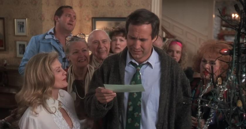 """Clark Griswold z filmu """"WKZ: Witaj, Święty Mikołaju"""" nie był zadowolony ze swojego świątecznego bonusu"""