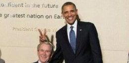 Bauhaha! Obama przyprawił rogi Bushowi? Oto historia tego zdjęcia!