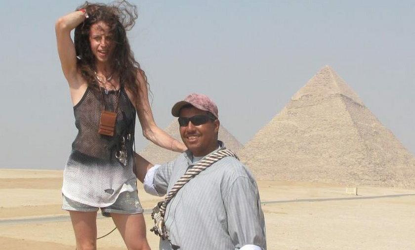 Michał Szpak na wakacjach w Egipcie