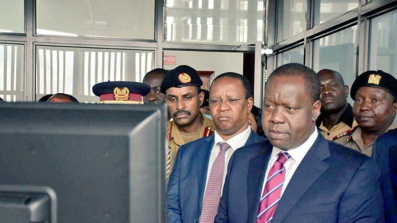Interior CS Fred Matiang'i during the launch of the Internal Affairs Unit
