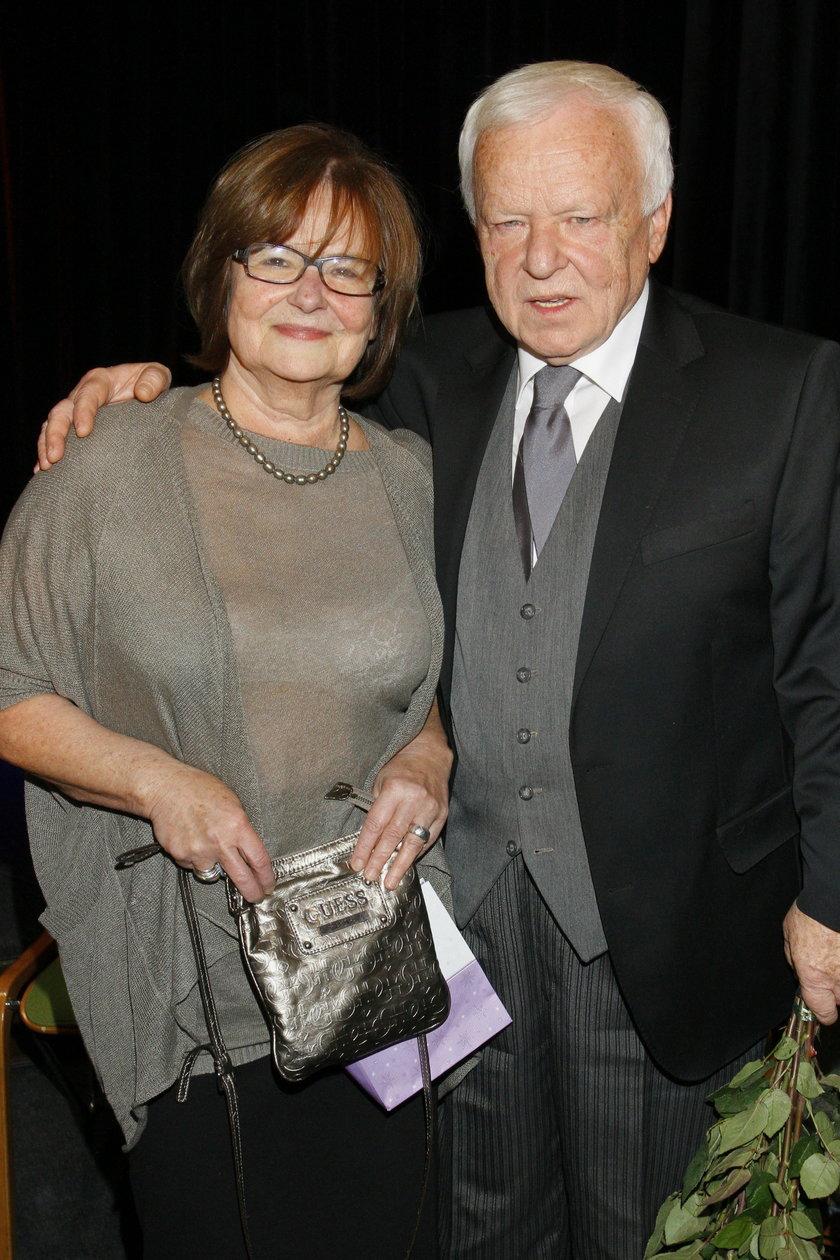 Marian Opania z żoną Anną