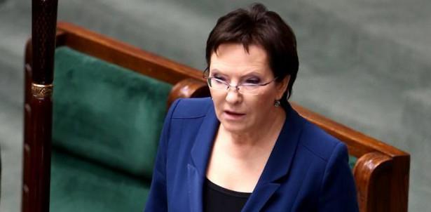 Marszałek Ewa Kopacz podczas posiedzenia Sejmu. Fot. PAP/Tomasz Gzell
