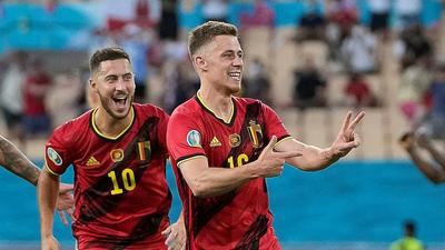 Hazard stunner enough for Belgium to oust Portugal and Ronaldo from Euro 2020