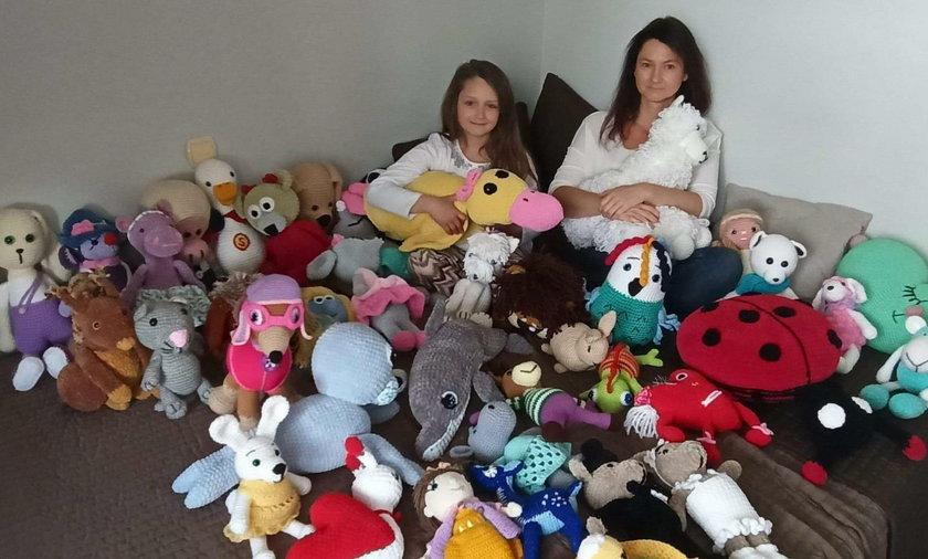 Joanna Wilczyńska i jej córka Lena. Szydełkowanie to ich pasja