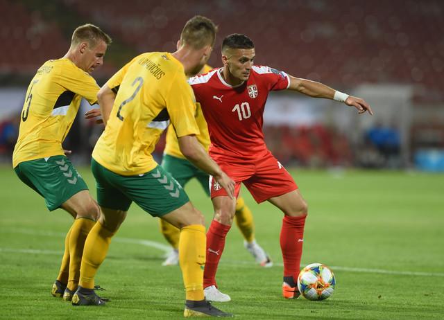 Dušan Tadić na meču protiv Litvanije