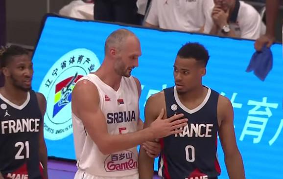 Marko Simonović na meču Srbija - Francuska