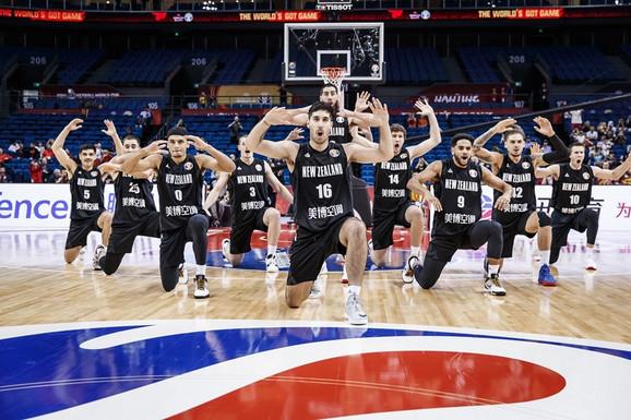 Košarkaška reprezentacija Novog Zelanda pred meč sa Crnom Gorom