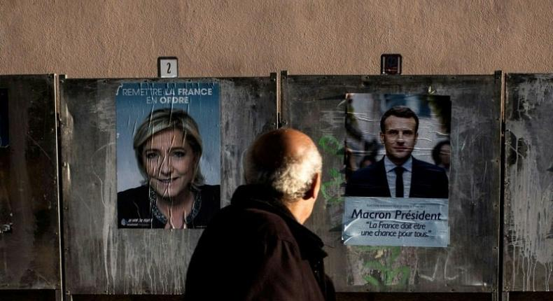 French presidential candidates Emmanuel Macron and Marine Le Pen are at odds on many issues