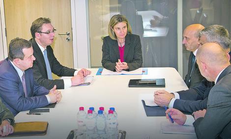 Vučić i Mogerini: EU jedini put Srbije