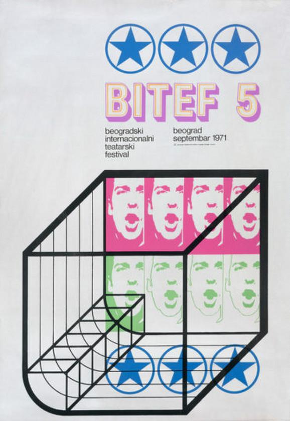 Plakat za BITEF 5, 1971.