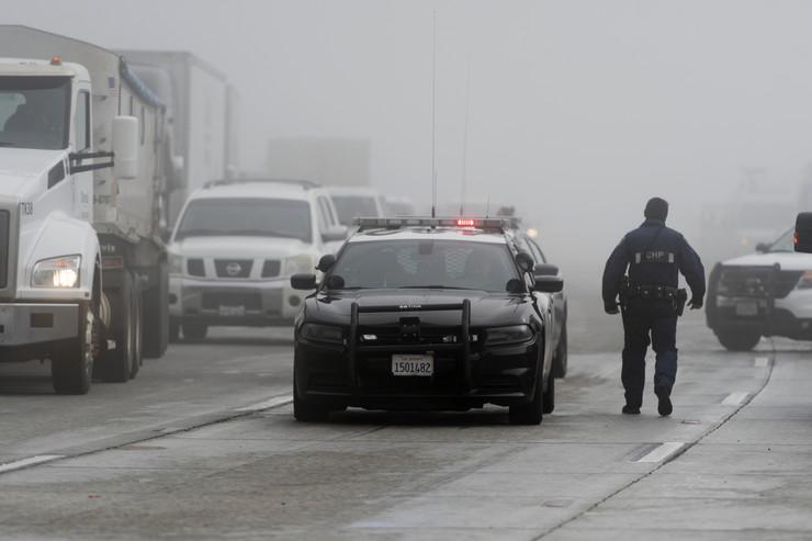 Kalifornija, snežna oluja, policija, Amerika