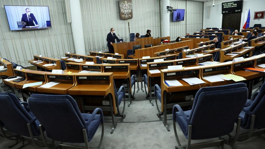 Wystąpienie Adam Bodnara w Senacie. Bojkot senatorów PiS