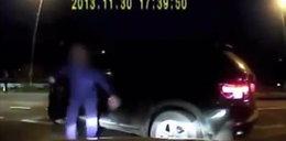 Chamski bandzior, który pobił kierowcę, znaleziony!