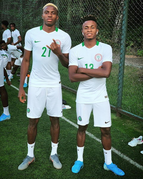 Victor Osimhen and Samuel Chukwueze will be looking to get some action against Ukraine (Instagram/Victor Osimhen)