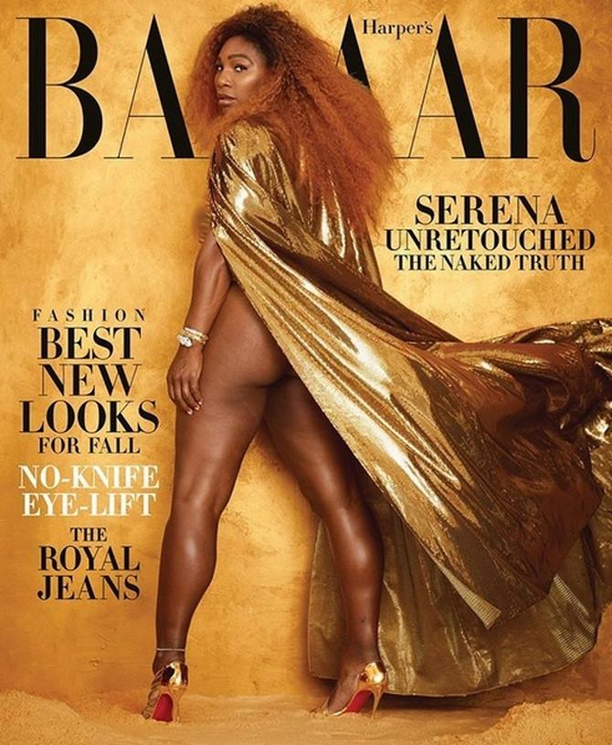 Serena Vilijams na naslovnici Harpers Bazara