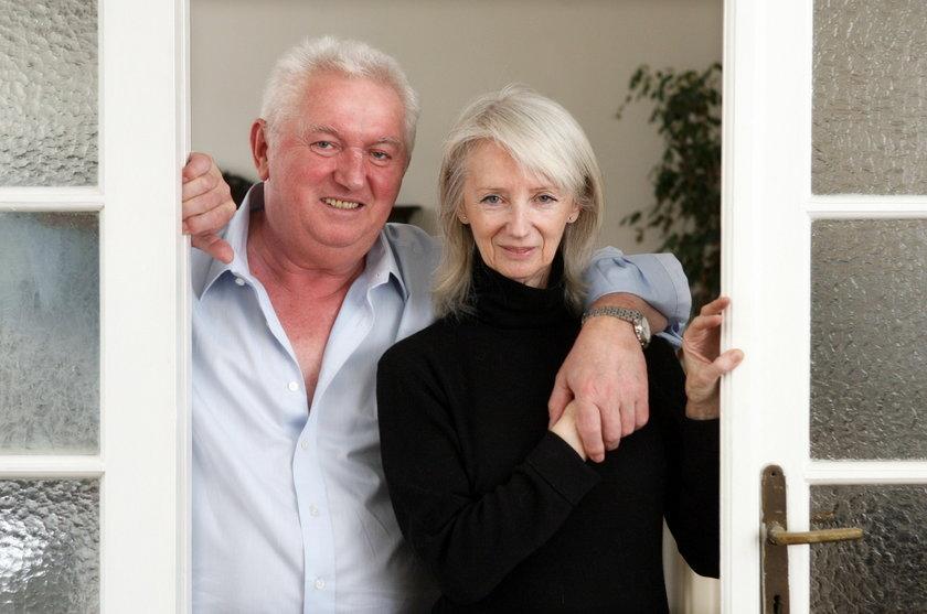 Andrzej Turski z żoną Zofią