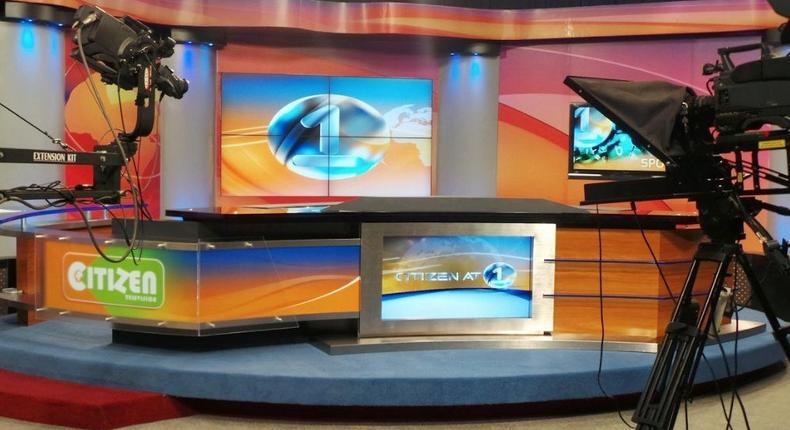 An empty Citizen TV studio