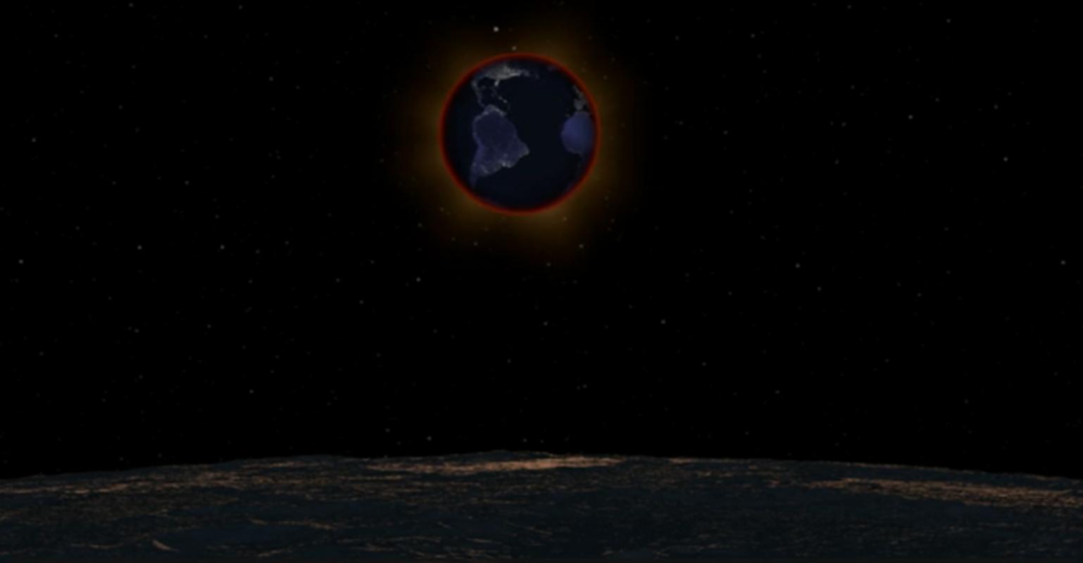 Tak może wyglądać Ziemia widziana z satelity naszej planety podczas całkowitego zaćmienia Księżyca
