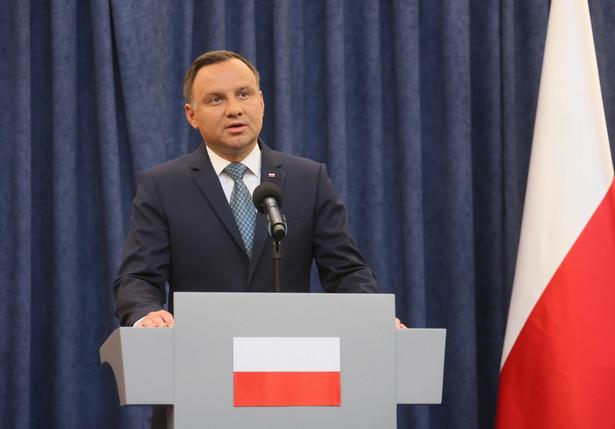 Prezydent Andrzej Duda wygłosił oświadczenie na temat reformy sądownictwa.