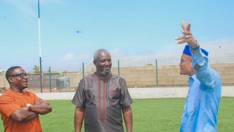 Zongo Minister, Deputy Sports Minister impressed with progress on Madina astroturf