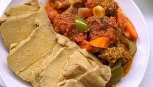 Fante kenkey with stew