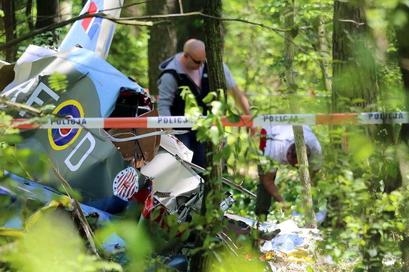 Katastrofa małego samolotu pod Kłobuckiem
