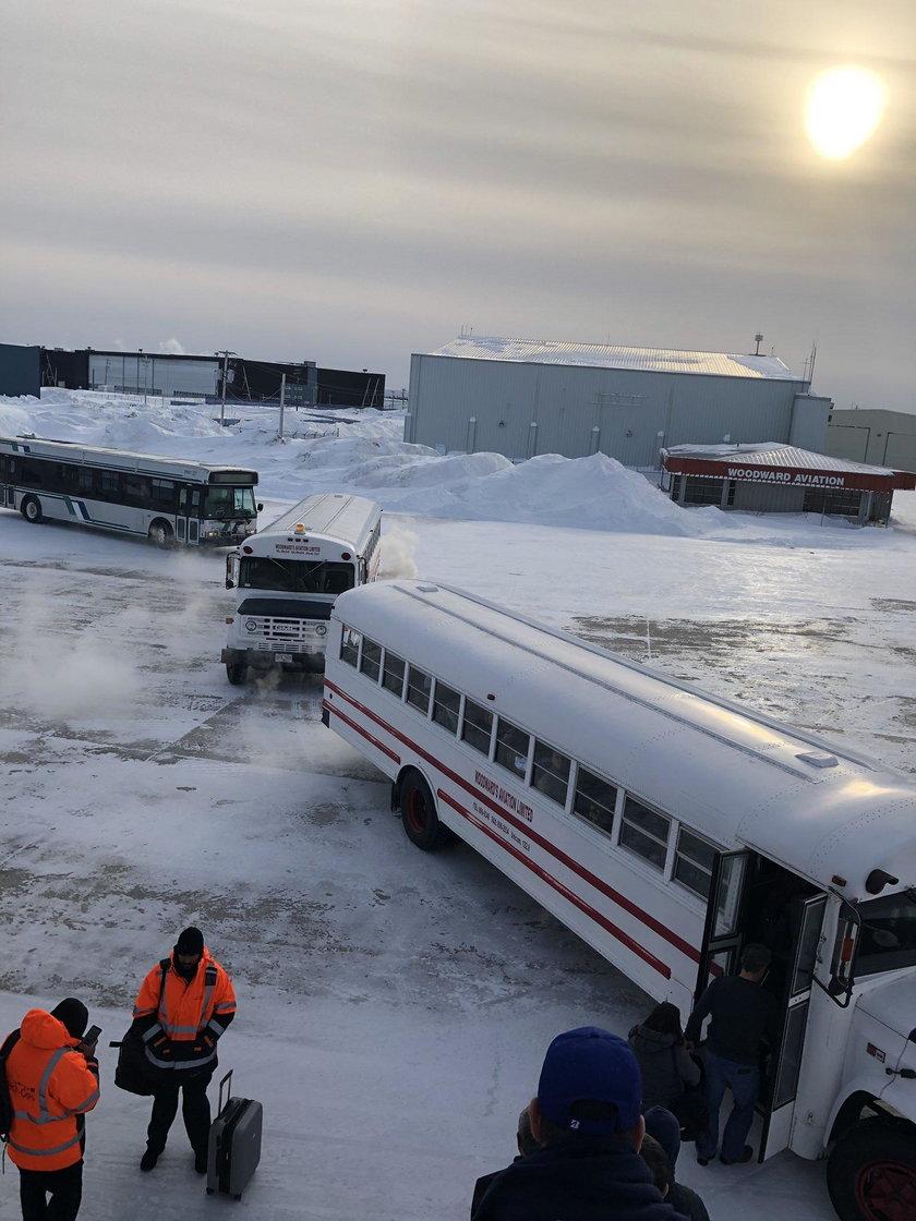 Zamarznięty samolot