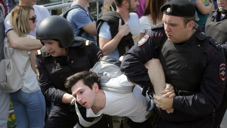 demonstracje w Rosji