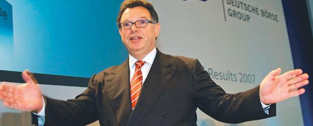 Obecnie tylko Deutsche Boerse, kierowana przez Reta Francioniego, wyraża oficjalne zainteresowanie zakupem GPW Fot. Bloomberg