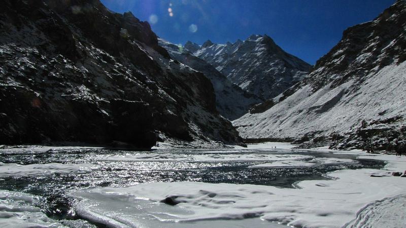 Chadar - lodowa droga w Indiach