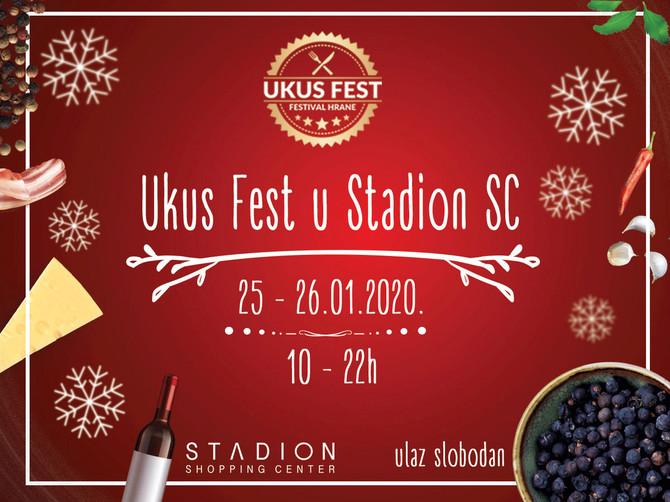 "UKUS FEST u Shopping Centru  ""Stadion"" u subotu 25. i u nedelju 26. januara 2020"