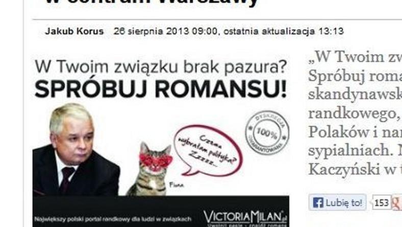 Kaczyński zachęca do zdrady? Kontrowersyjna reklama w centrum miasta