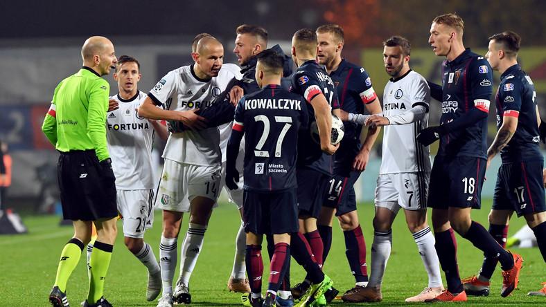 Kłótnia pomiędzy zawodnikami Pogoni Szczecin i Legii Warszawa