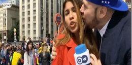 Reporterka molestowana na wizji. Obmacywał jej piersi