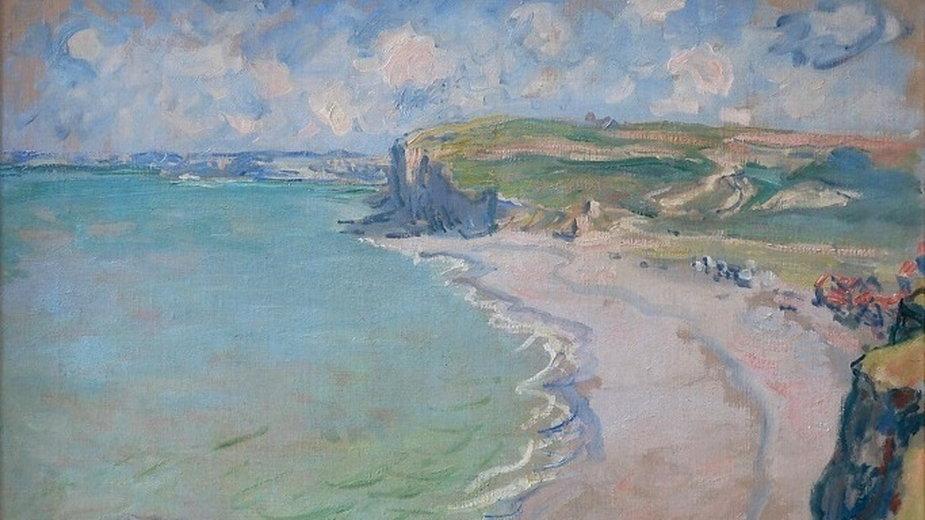 """Monet Claude, """"Plaża w Pourville"""""""