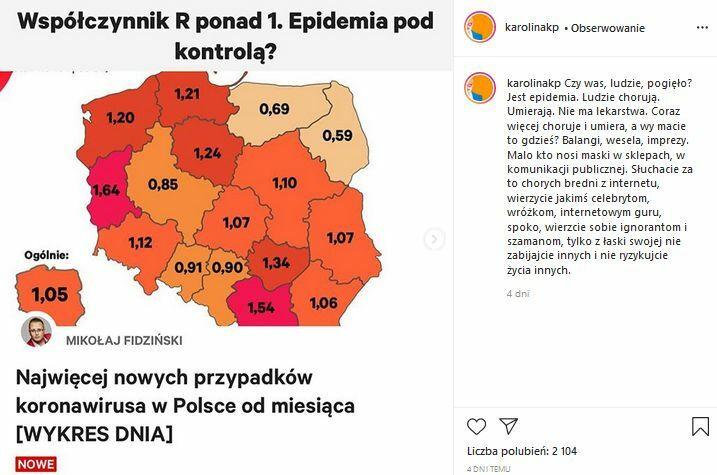 post Karoliny Korwin Piotrowskiej