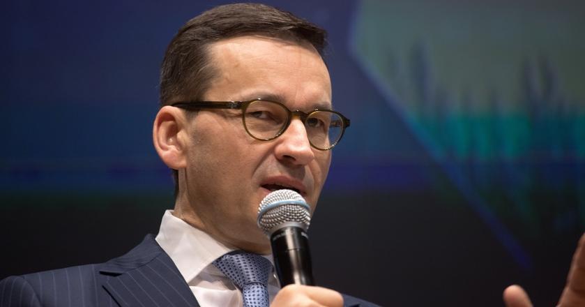 Mateusz Morawiecki, wicepremier podczas konferencji podsumowującej 2 lata rządów.