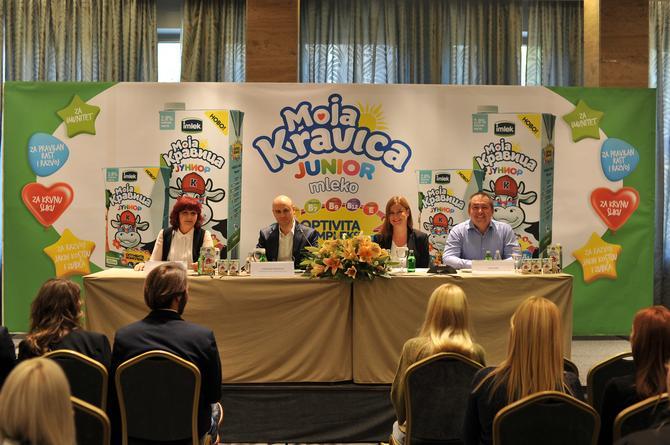 Pedijatar dr Mirjana Mićović, regionalni direktor marketinga Imleka Slobodan Srećković, tehnolog Imleka Ivan Zorić