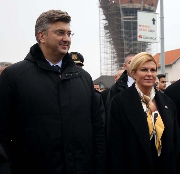 Andrija Plenković i Kolinda Grabar Kitarović