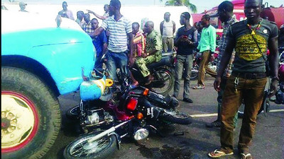 Truck crushes 2 motorcycle riders to death in Ogun