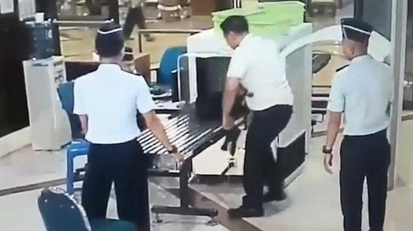 Skandal na lotnisku. Pilot ledwo trzymał się na nogach