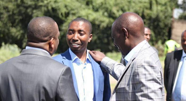 Jubilee's Francis Mureithi with DP William Ruto and Governor Mike Sonko. Francis Mureithi speaks for the first time after Court of Appeal upheld Babu's election