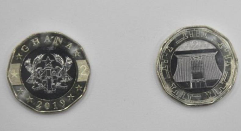 Bank of Ghana's  2-Ghana cedi coin