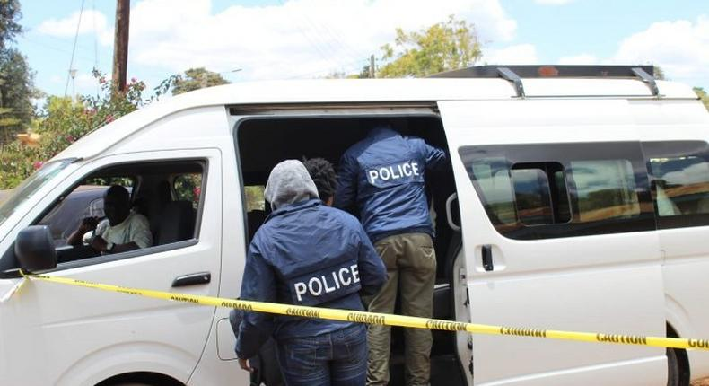 EACC officers during a past corruption-related arrest