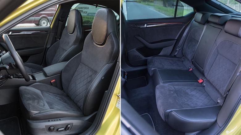 Wersja SportLine zmienia elegancką limuzynę w auto o zadziornym charakterze. Taki Superb w standardzie ma m.in. sportowe fotele.
