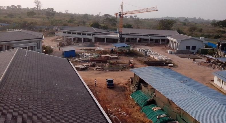 Construction work at the University of Health and Allied Sciences (UHAS)