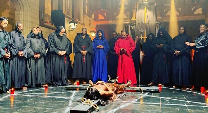 A sacrificial scene from the Living in Bondage remake