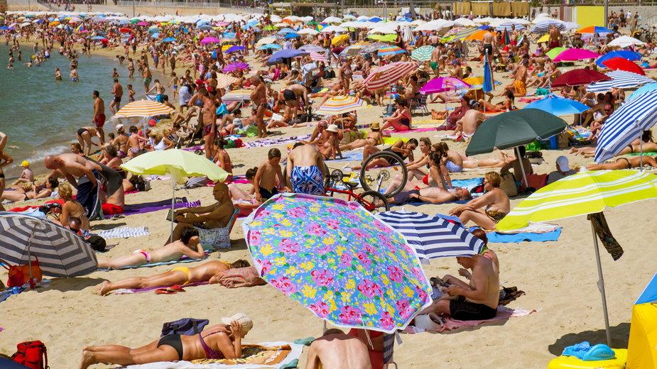 Plaża w Barcelonie, Hiszpania
