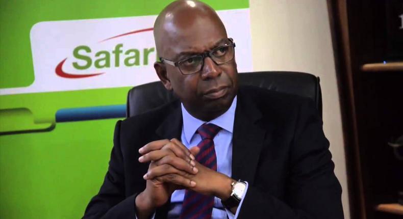 A file image of Safaricom CEO Bob Collymore